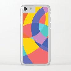 Geometric Beach Ball 1 Clear iPhone Case