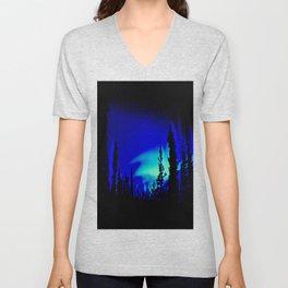 Aurora Borealis Forest Vibrant Unisex V-Neck