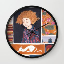 Childhood Collage Wall Clock