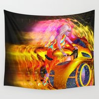 demon Wall Tapestries featuring Speed Demon by TK0920