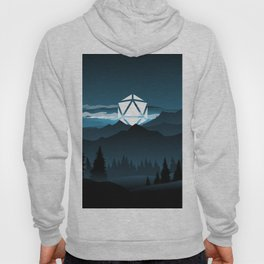 Full Moon Over the Mountains D20 Dice Tabletop RPG Landscape Hoody