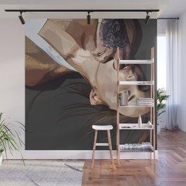 Kiss me hard before you go Wall Mural