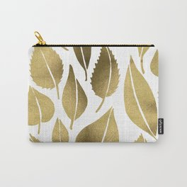 Cascading Leaves – Gold Palette Carry-All Pouch
