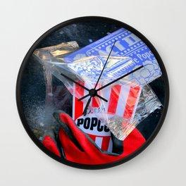 Fresh Nuked Popcorn Wall Clock
