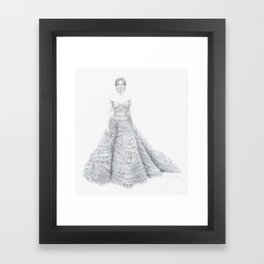 Amy Adams in Oscar de la Renta Framed Art Print