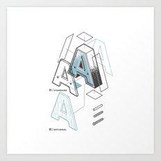 The Exploded Alphabet / A Art Print