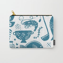 Fish supper textured print pattern Carry-All Pouch