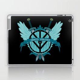 Shield Maiden Winged Teal Viking Shield Laptop & iPad Skin