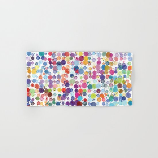 Watercolor Drops Hand & Bath Towel