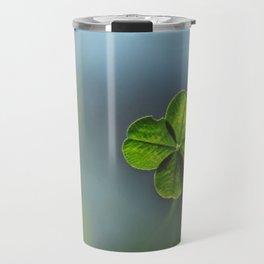 Lucky Four Leaf Clover Travel Mug