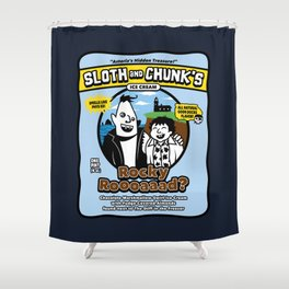 Sloth and Chunk's Ice Cream Shower Curtain