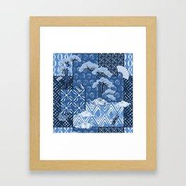 Shibori Quilt Framed Art Print