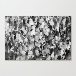 black and white pattern - paint brush design Canvas Print