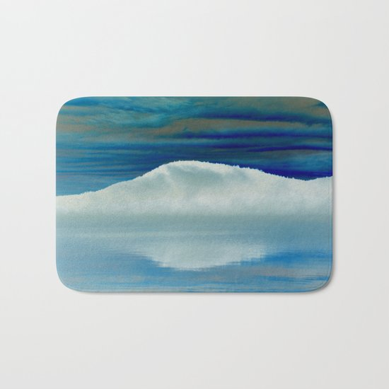 Ice in the Morning on Lake George Bath Mat