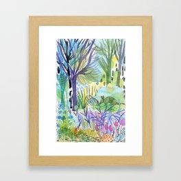 Where the armadillo lives -kids illustration Framed Art Print