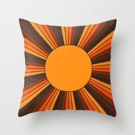 Golden Sunshine State Throw Pillow