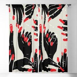 hands, fingers, nails & fingernails Blackout Curtain