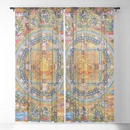 Mandala Buddhist 2 Sheer Curtain
