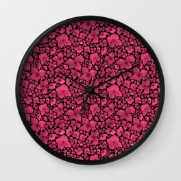 Hydrangea-Red Violet Palette Wall Clock
