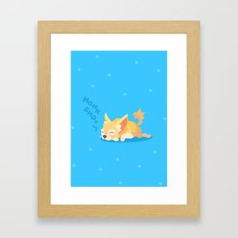 Snoozing Chihuhua Framed Art Print