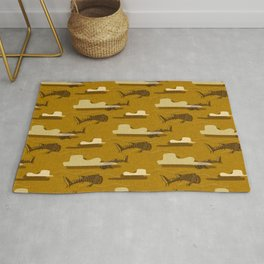 Whale Shark Yellow  #nautical #whaleshark Rug