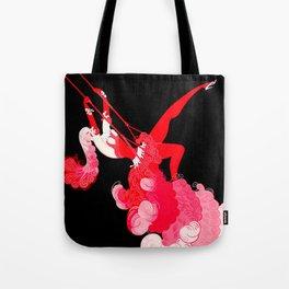 "Art Deco Illustration ""Trapeze"" Tote Bag"
