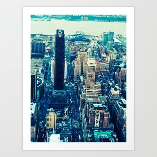 NEW YORK//COLOUR *2 Art Print