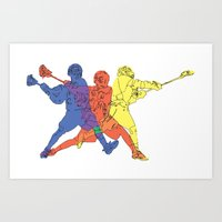 lacrosse Art Prints featuring Lacrosse by preview