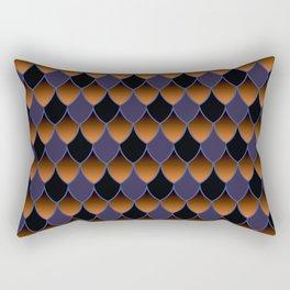 Squama Fhish Dark Pattern Rectangular Pillow