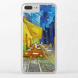"""Vincent van Gogh """"Cafe Terrace, Place du Forum, Arles"""" Clear iPhone Case"""