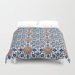 Iznik Tile Pattern Red Blue White Duvet Cover