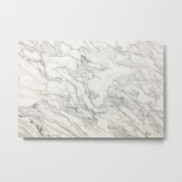 White Marble 010 Metal Print
