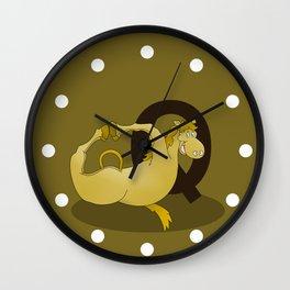 Monogram Q Pony Wall Clock