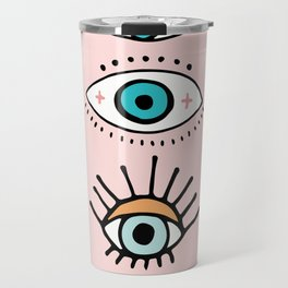 eye illustration print Travel Mug