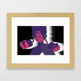 Limited Color Palette Garnet Framed Art Print
