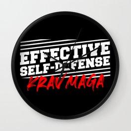 Krav Maga defense fighter martial art Wall Clock