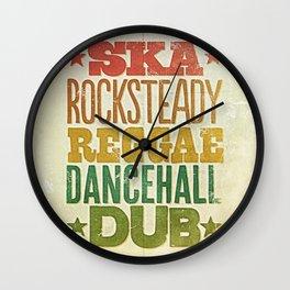 Shades of Reggae Wall Clock