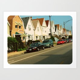 Pretty Houses In a Row ~ Chicago Art Print