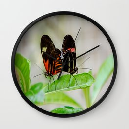 Butterfly Pair Wall Clock