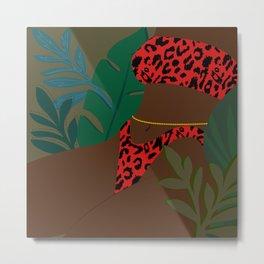 Jungle Fever // Woman, Feminine, Plants, Plant Lady, Nature, Green Metal Print