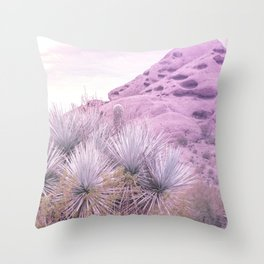 Prickly in Pink III Throw Pillow