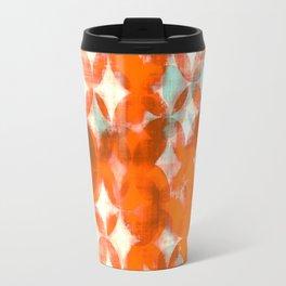 circles, orange art, geometric print, modern painting, mid century art, abstract art Travel Mug