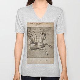 Hugo de Groot's Syntagma Arateorum 1600 - 15 Equus or Pegasus Unisex V-Neck