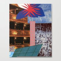 theatre Canvas Prints featuring THEATRE by Kelci Archibald