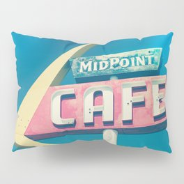 Route 66 Mid Point Cafe Mid Century Modern Pillow Sham