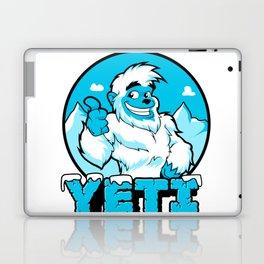 Smiling cartoon yeti Laptop & iPad Skin