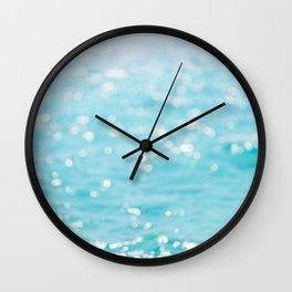 Rippling Sparkling Blue Ocean Photo Wall Clock