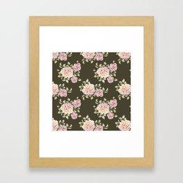 rose cluster pattern Framed Art Print