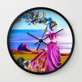 Robot Painting: Singularity Dream Wall Clock