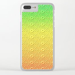 Summer Colors in a Pattern Clear iPhone Case